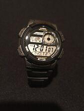CASIO AE1000W Quartz Watch - 43mm/World Time/Resin/ Illuminator- Works Great
