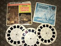 Carlsbad Caverns A376 Viewmaster Reels Vintage 3 Reels GAF