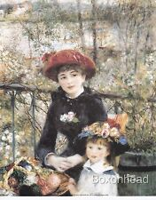 "10"" x 8"" Two Sisters On the Terrace by Pierre-Auguste Renoir -Art Painting Print"