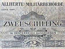 More details for austria-2 shilling banknote-1944-issued  by allied military authority (british)