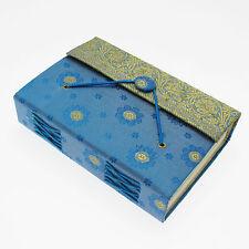 Fair Trade Handmade Medium Blue Sari Journal Notebook - 2nd Quality