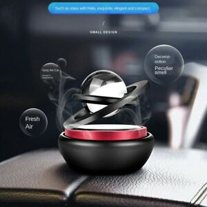 Solar Power Car Aromatherapy Air Freshener Aluminum Alloy 2 Ring Aroma Diffuser