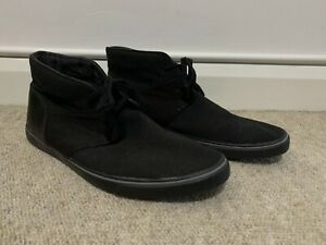 Clarks Cushion Soft Ortholite Black Canvas Shoes Size 10 G