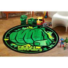 Hulk Smash Kids Floor Rug Mat Marvel Avengers Assemble Bedroom 100x100cm