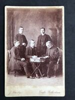 Victorian Cabinet Card: Crosby: Rotherham: Group Of Clergyman: 1 Named As QUINK