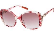Missoni pink oversized sunglasses with Swarovski crystals - made in Italy