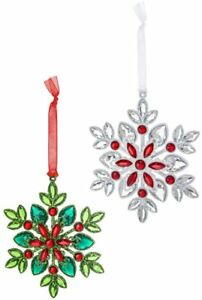 """Ganz H1 Crystal Expressions 6"""" Christmas Snowflake Hanging Ornaments ACRYX-212"""