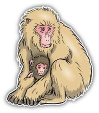 Monkey Family Sketch Car Bumper Sticker Decal 4'' x 5''