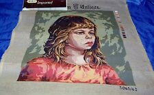 Tapestry canvas  Semco 5065/63  35 x 48cm Crying Girl Unstitched needlepoint