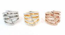 Edelstahlring 316L Damen Ring 25mm rose gold silber Edelstahl Zirkonia