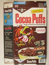 MT General Mills Cereal Box COCOA PUFFS 2013 16.5oz Retro VINTAGE GAME.. [G7D7o]