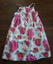 Maggie & Zoe Girls Sleeveless Sun Dress Sz 10 Pink Orange & White Floral Summer