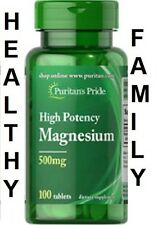 HIGH POTENCY MAGNESIUM 500mg x100 tablets PURITANS PRIDE  24HR DISPATCH