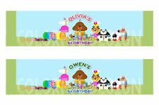 Hey Duggee - 6x Personalised Birthday Party Bottle favours Label Stickers