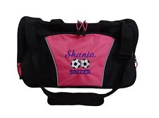 Personalized Duffel Bag Large DUO SOCCER BALLS Sports Team Travel Coach Gift NEW