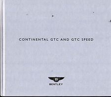 Bentley Continental GTC & GTC Speed 2009-10 UK Market Hardback Sales Brochure