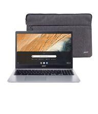 """NEW Acer Chromebook 15.6"""" HD Intel Dual 2.6GHz 32GB SSD 4GB RAM Webcam + Sleeve"""