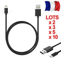 CABLE POUR IPHONE 5 6 7 8 X 5S SE 6 PLUS 7 PLUS IPOD IPAD CHARGEUR USB RENFORCÉ