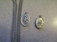 St Saint Michael the Archangel and Guardian Angel - ONE Medal on Chain