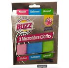 Buzz Microfibre MicrofibreCloths - Pack of 3 X 4 = 16 - Brand New - Free P & P