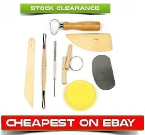 8 Pottery Clay Sculpting Tool Set Ceramics Fimo Modelling Kit DIY Carving Tools
