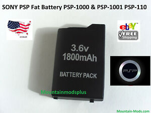 Rechargeable Replacement Battery 1800mAh Fits Sony FAT PSP-110 PSP-1001 PSP 1000
