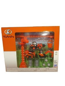 Kubota Construction Equipment & Crane Playset 1/32 Scale Die Cast by New Ray