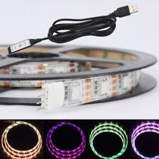 100CM 5V 5050 RGB LED Strip Light Colour Changing USB TV PC Back Mood 60 LEDs