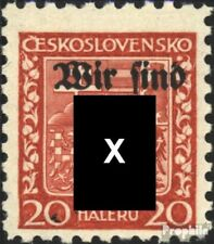 Rumburg (Sudetenland) 3 gestempeld 1938 Lokale Afdrukken de Duits. Feestje