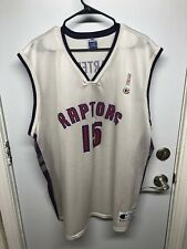 Vintage Vince Carter #15 Toronto Raptors Champion Jersey, White, Sz XXL, 52