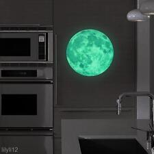 Moon Glow In The Dark Moonlight Large DIY Wall Sticker Home Decor Gift 30*30CM