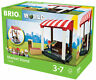 33946 BRIO Market Stand Wooden Village Railway Playset inc 11 pcs Children 3yr+
