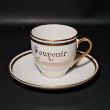 🔅 ancienne tasse à café Porcelaine de Limoges Legrand souvenir 1ere communion