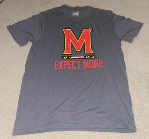 NWOT Under Armour Maryland Team Issued Shirt Men's Size Large Gray