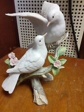 Homco- Masterpiece Porcelain- Love's Song- Two Doves on Branch w/Roses