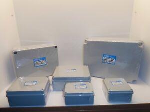 ESR ENCLOSURE JUNCTION BOX ADAPTABLE PVC PLASTIC IP56 WATERPROOF GREY