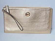 Large MIchael Kors Gold Wallet Clutch with Gold Hardware Beautiful