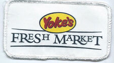 Yoke's Fresh Market Spokane, WA employee/driver patch 2-1/2 X 4-1/2 #1128