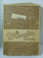 Empty Antique Vintage 1960s Blue Bell Wrangler Socks Store Display Original Box