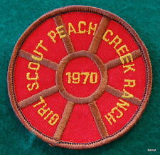 VINTAGE GIRL SCOUT  - 1970 PEACH CREEK RANCH CAMP PATCH