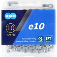 KMC e10 EPT Silver 10-Speed 136L eBike Bike Chain fits Bosch & 10-Speed e-Bikes