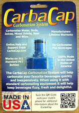 CarbaCap Carbonater for Tonic Water Seltzer Soda Pop Beer Wine Drink Carbonator