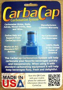 CarbaCap Carbonater for Tonic Water Seltzer Soda Pop Beer Wine Drink Carbonator