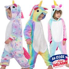Kids Unicorn Cute Sleepwear Animal Costume Cosplay Pyjamas Dress Bodysuit Party