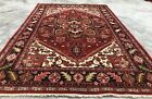 Authentic Hand Knotted Vintage Serapi Hareez Wool Area Rug 8 x 6 Ft