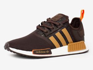 Original Mens ADIDAS NMD R1 Athletic Comfy Running Sneaker Dark Brown New .
