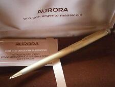 AURORA 98 PENNA SFERA SATINATA IN ARGENTO 925 E ORO '90 +GARANZ Silver Ball Pen