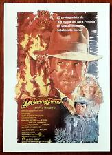 Indiana Jones and the Temple Of Doom (Y El Templo Maldito) Spanish Postcard