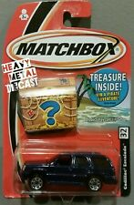 Matchbox Cadillac Escalade (2004 Buried Treasure) Blue 1:64 Diorama -New in pack