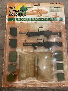 1998 21st Century Toys The Ultimate Soldier U.S. Modern Machine Gun Set